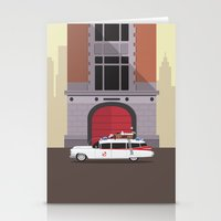 ghostbusters Stationery Cards featuring Ghostbusters HQ by Michael Walchalk