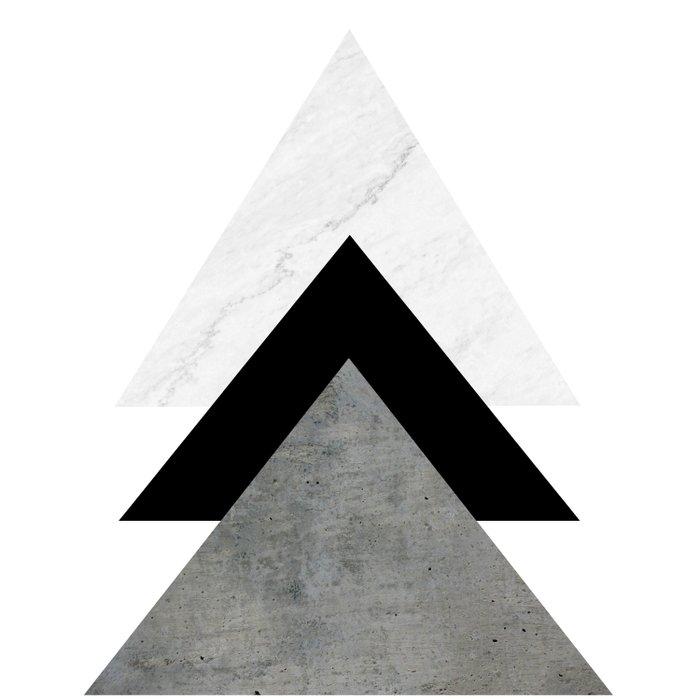 Arrows Monochrome Collage Duvet Cover