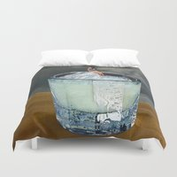 drink Duvet Covers featuring DRINK by Beth Hoeckel