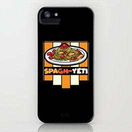 Spagh-yeti iPhone Case