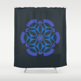 Stealthy sense | Abstract sacred geometry | Aliens crop circle Shower Curtain