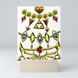 LOZ Design #5 - Gold Gems of Hyrule Mini Art Print