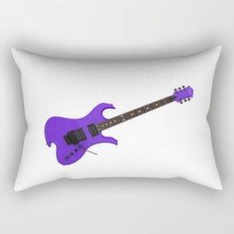 Purple Electric Guitar Rectangular Pillow