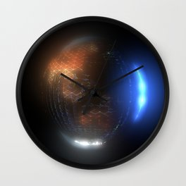 Albedo: Transition from Night to Day Wall Clock