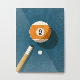 BILLIARDS / Ball 9 Metal Print