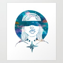 Blinded by the stars Art Print
