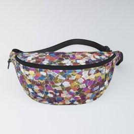 Colorful Rainbow Glittering Confetti Fanny Pack