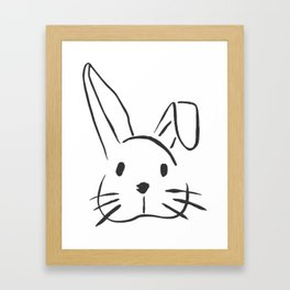 Bunny Doodle Framed Art Print