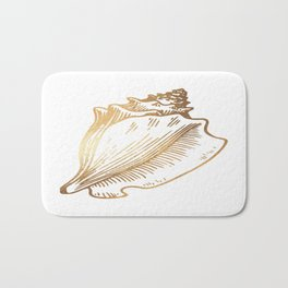 Gold Conch Shell Bath Mat