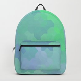 Shades of Blue and Green Octagon Abstract Backpack