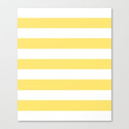 Shandy - solid color - white stripes pattern Canvas Print