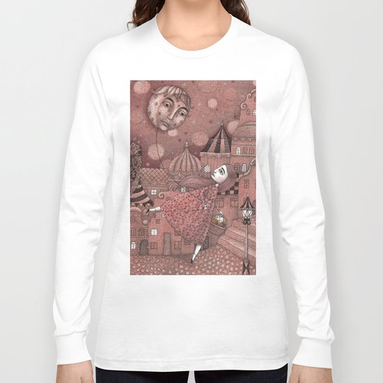 Strawberry Moon in June Long Sleeve T-shirt