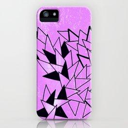 Purple Triangles iPhone Case