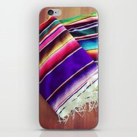 blankets iPhone & iPod Skins featuring mexican blankets by bailybelle
