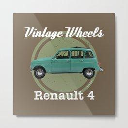 Vintage Wheels - Renault 4 Metal Print