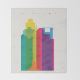 Shapes of Houston. Accurate to scale Throw Blanket