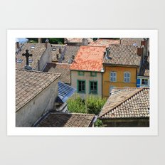 the houses in Crest Art Print