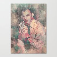 frank sinatra Canvas Prints featuring Frank Sinatra by Nechifor Ionut