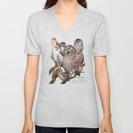 Owls of the Northeast Unisex V-Neck