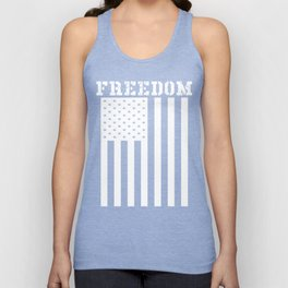 Freedom American Flag Graphic Unisex Tank Top