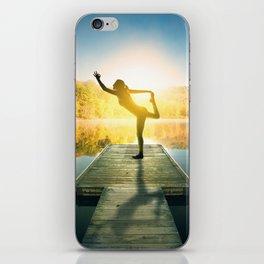 Yoga on the Lake iPhone Skin