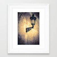 lantern Framed Art Prints featuring Lantern by Maria Heyens