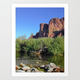 Salt River Cliffs Art Print