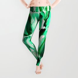 Green Sugarcane, Unripe Leggings