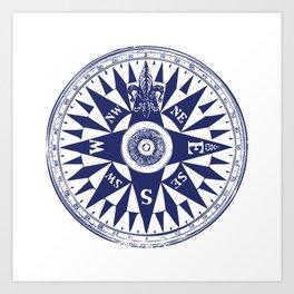 Nautical Compass Art Prints