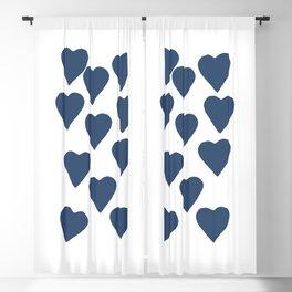 Hearts Navy Blackout Curtain