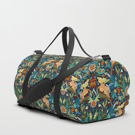 Victorian damask midnight Duffle Bag