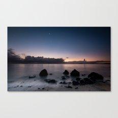 Sunrise, Moonset Canvas Print