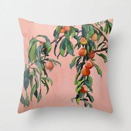 Foliage II / Peach Tree Throw Pillow