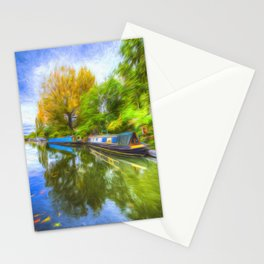 Regents Canal Art Stationery Cards