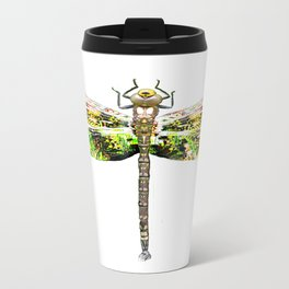 Dragonfly illustrated flying insect Metal Travel Mug