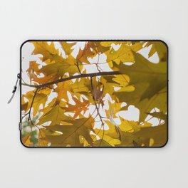 Golden oak leaves Laptop Sleeve