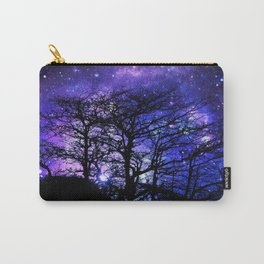 Black Trees Blue Violet Purple Space Carry-All Pouch