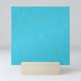 Moroccan Nights - Gold Teal Mandala Pattern - Mix & Match with Simplicity of Life Mini Art Print