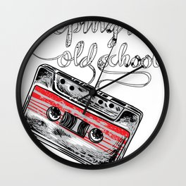 Keeping it old school boombox tape 80s music shirt Wall Clock