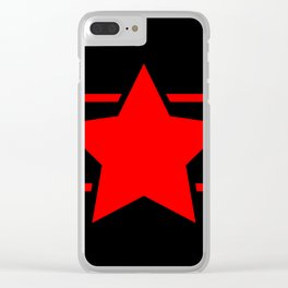 Red star with red lines - Vector Clear iPhone Case