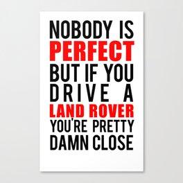 Drive a LandRover Canvas Print