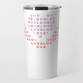Heart shape of LOVE Travel Mug