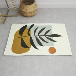 Soft Abstract Large Leaf Rug
