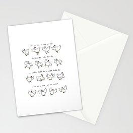 Chicken Dance Stationery Cards