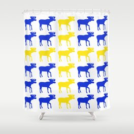 Graphic Swedish Moose Flag II Shower Curtain