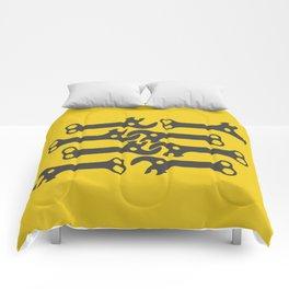 key! yellow Comforters
