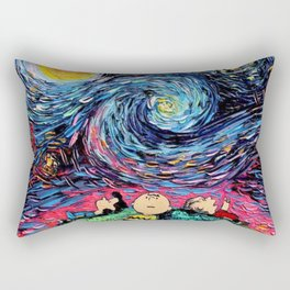 peanuts van gogh snoopy Rectangular Pillow