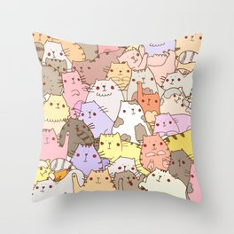 Cats own the internet Throw Pillow