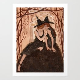 Witch Art - Whispers Only Sisters Understand Art Print