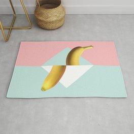 Tropical Fruit Banana Split Pop Art Geometrical Modern Retro Pastel Mexican Vegan Rug